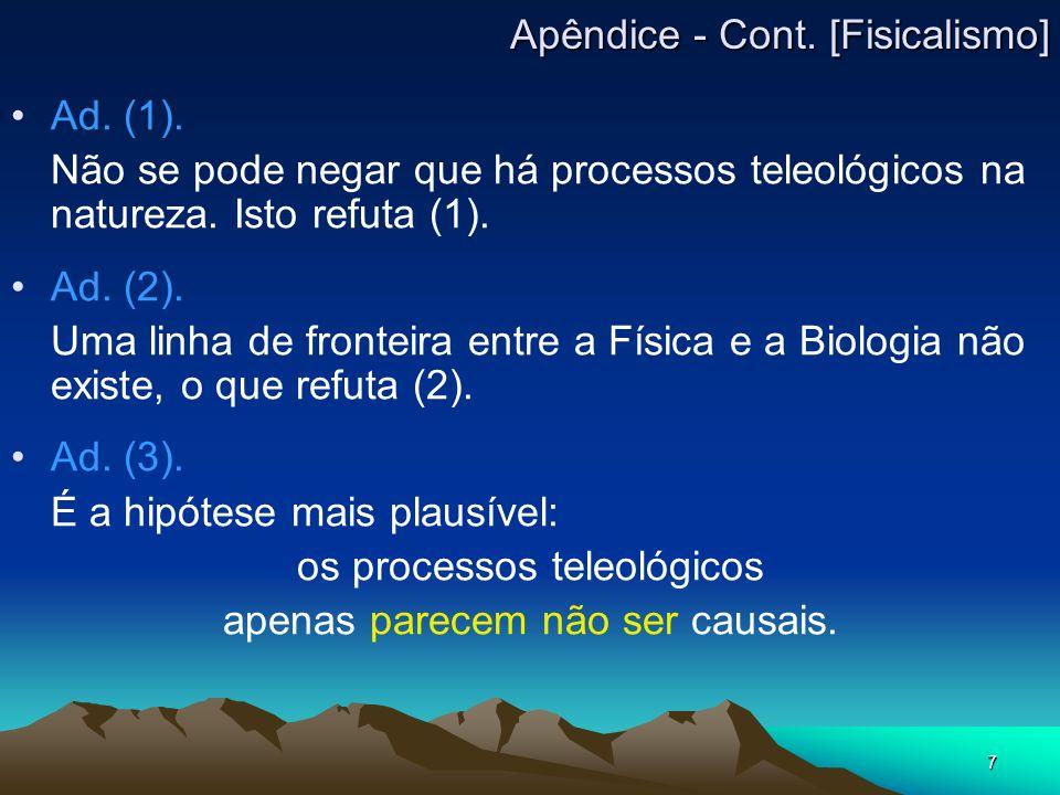 Apêndice - Cont. [Fisicalismo]